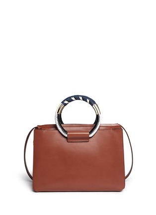 Back View - Click To Enlarge - The Row - Classic' braided ring handle leather box bag