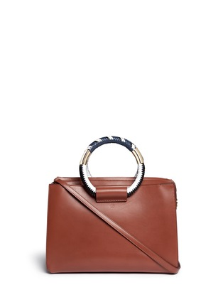 Main View - Click To Enlarge - The Row - Classic' braided ring handle leather box bag