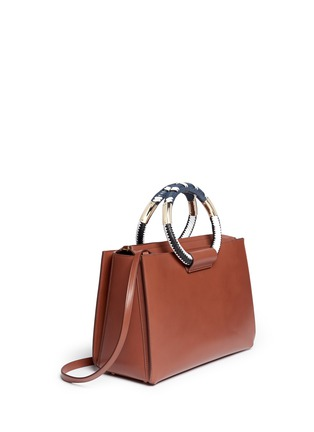 Figure View - Click To Enlarge - The Row - Classic' braided ring handle leather box bag