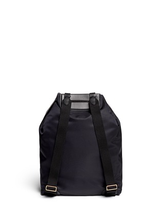 背面 - 点击放大 - THE ROW - Leather trim nylon drawstring backpack