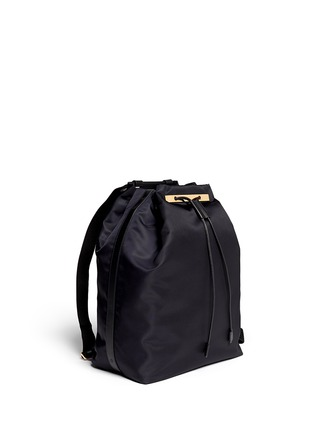 正面 -点击放大 - THE ROW - Leather trim nylon drawstring backpack