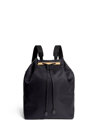 首图 - 点击放大 - THE ROW - Leather trim nylon drawstring backpack