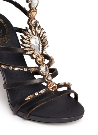 Detail View - Click To Enlarge - René Caovilla - Jewelled leather gladiator sandals
