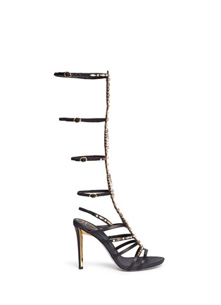 Main View - Click To Enlarge - René Caovilla - Jewelled leather gladiator sandals