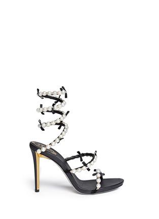 首图 - 点击放大 - RENÉ CAOVILLA - 螺旋绕踝珍珠蝴蝶结高跟凉鞋