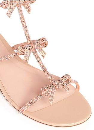 细节 - 点击放大 - RENÉ CAOVILLA - Strass pavé satin sandals
