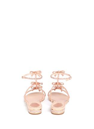 背面 - 点击放大 - RENÉ CAOVILLA - Strass pavé satin sandals