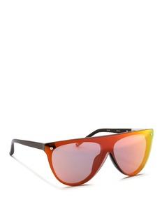 3.1 PHILLIP LIMFlat top mirror shield acetate sunglasses