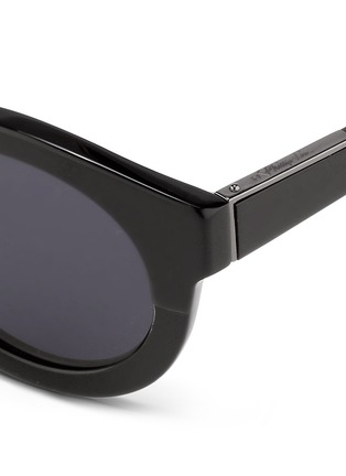 Detail View - Click To Enlarge - 3.1 Phillip Lim - x Linda Farrow chunky round keyhole acetate sunglasses