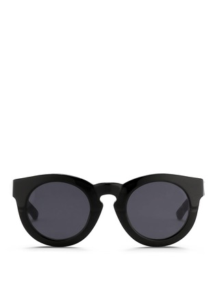 Main View - Click To Enlarge - 3.1 Phillip Lim - x Linda Farrow chunky round keyhole acetate sunglasses