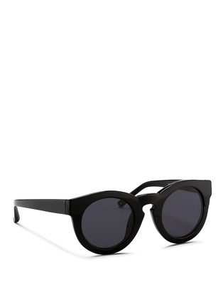 Figure View - Click To Enlarge - 3.1 Phillip Lim - x Linda Farrow chunky round keyhole acetate sunglasses