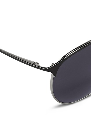 Detail View - Click To Enlarge - 3.1 Phillip Lim - Acetate brow bar wire frame sunglasses