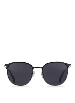 Main View - Click To Enlarge - 3.1 Phillip Lim - Acetate brow bar wire frame sunglasses