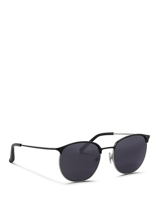 Figure View - Click To Enlarge - 3.1 Phillip Lim - Acetate brow bar wire frame sunglasses