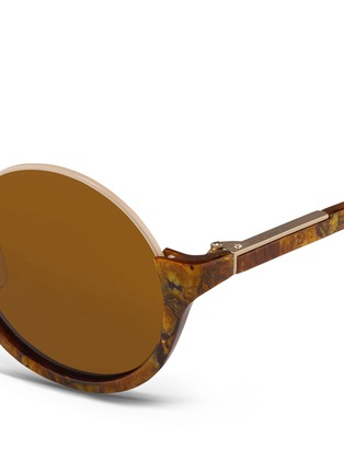 Detail View - Click To Enlarge - 3.1 Phillip Lim - Stainless steel rim half moon sunglasses