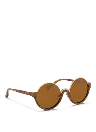 Figure View - Click To Enlarge - 3.1 Phillip Lim - Stainless steel rim half moon sunglasses