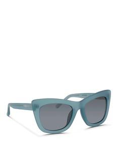 3.1 PHILLIP LIMx Linda Farrow frosted acetate cat eye sunglasses