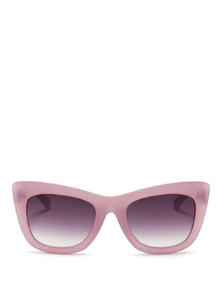 Main View - Click To Enlarge - 3.1 Phillip Lim - Frosted acetate cat eye sunglasses