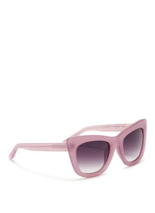 Figure View - Click To Enlarge - 3.1 Phillip Lim - Frosted acetate cat eye sunglasses