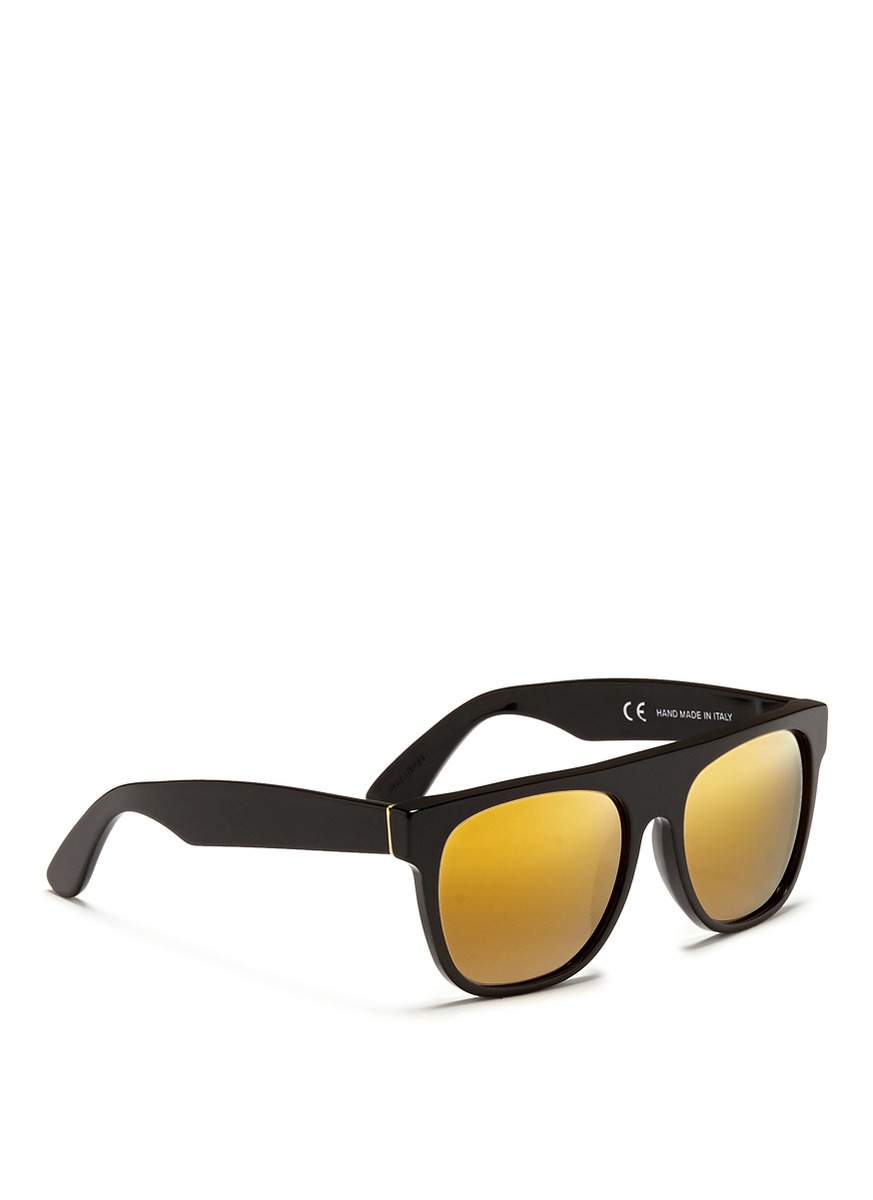 Super Flat Black 24k Sunglasses Super 39 Flat Top Black 24k 39