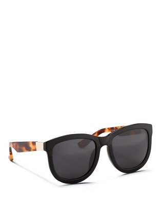 Figure View - Click To Enlarge - The Row - x Linda Farrow tortoiseshell temple acetate sunglasses