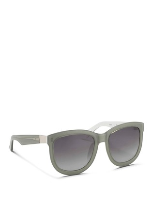 Figure View - Click To Enlarge - The Row - x Linda Farrow oversize D-frame colourblock acetate sunglasses