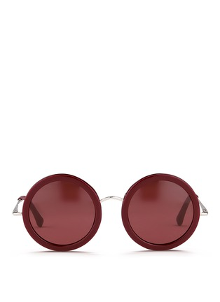 Main View - Click To Enlarge - The Row - x Linda Farrow wire temple round acetate sunglasses
