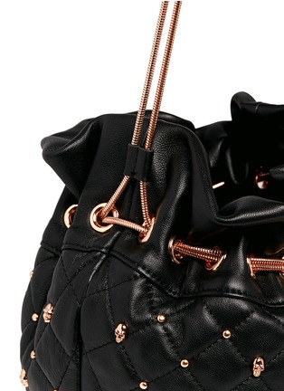 Detail View - Click To Enlarge - THOMAS WYLDE - Skull stud quilted leather bucket bag