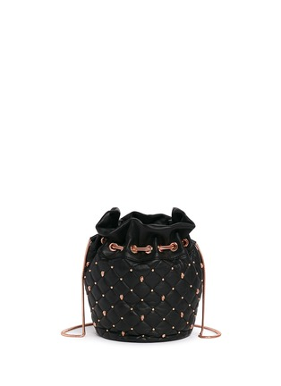 Back View - Click To Enlarge - THOMAS WYLDE - Skull stud quilted leather bucket bag