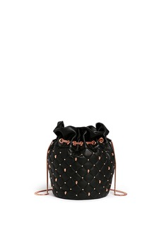 THOMAS WYLDE Skull stud quilted leather bucket bag