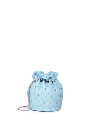Front View - Click To Enlarge - THOMAS WYLDE - Skull stud quilted leather bucket bag