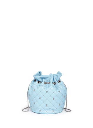 Main View - Click To Enlarge - THOMAS WYLDE - Skull stud quilted leather bucket bag