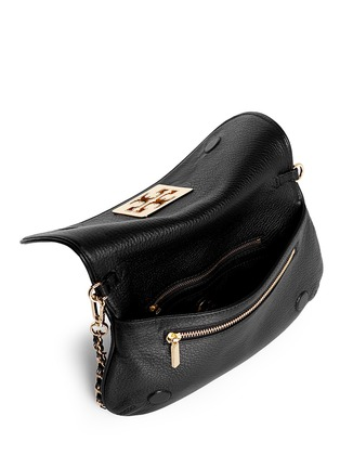 Detail View - Click To Enlarge - Tory Burch - 'Britton' pebbled leather clutch
