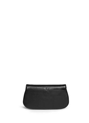Back View - Click To Enlarge - Tory Burch - 'Britton' pebbled leather clutch