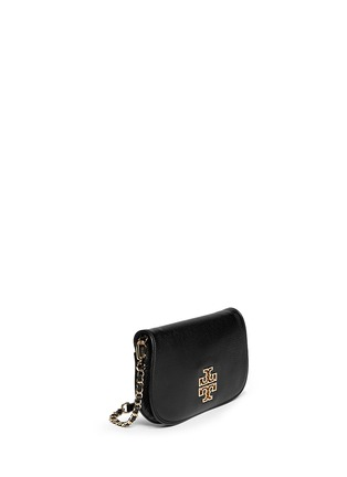 Front View - Click To Enlarge - Tory Burch - 'Britton' pebbled leather clutch