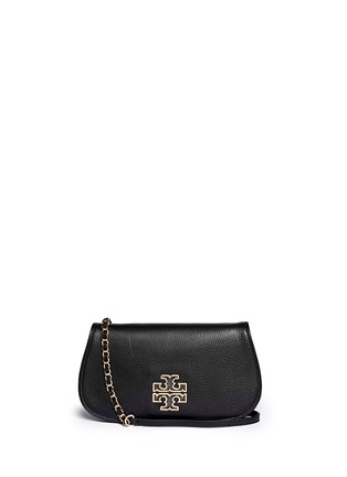 Main View - Click To Enlarge - Tory Burch - 'Britton' pebbled leather clutch