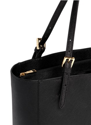 Detail View - Click To Enlarge - Tory Burch - 'York' small saffiano leather buckle tote