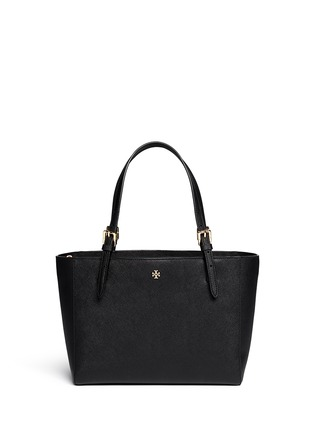Main View - Click To Enlarge - Tory Burch - 'York' small saffiano leather buckle tote
