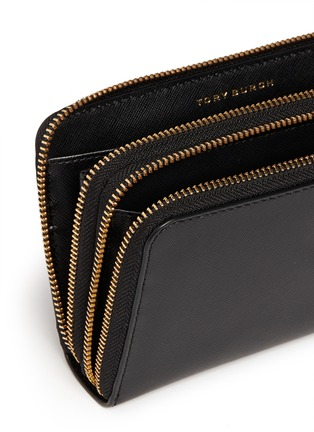 Detail View - Click To Enlarge - Tory Burch - 'Robinson' double zip continental wallet