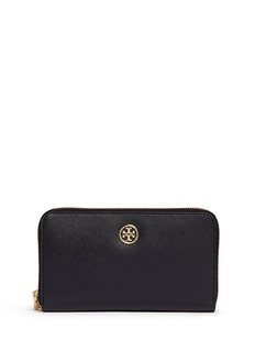 TORY BURCH 'Robinson' double zip continental wallet