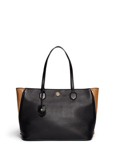 TORY BURCH 'Robinson' side zip pebbled leather tote