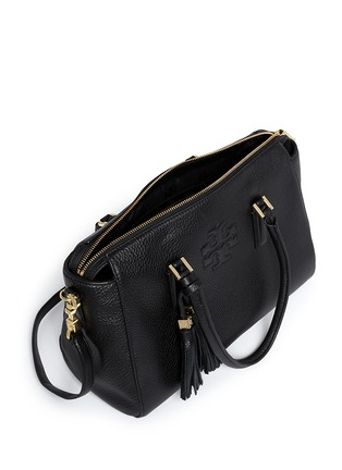 Detail View - Click To Enlarge - Tory Burch - 'Thea' tassle pebbled leather satchel