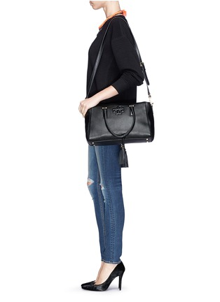 - Tory Burch - 'Thea' tassle pebbled leather satchel