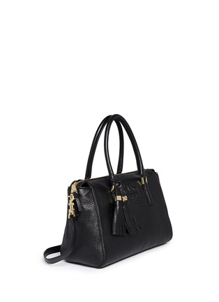 Front View - Click To Enlarge - Tory Burch - 'Thea' tassle pebbled leather satchel