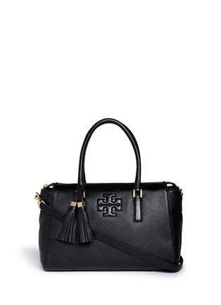 Main View - Click To Enlarge - Tory Burch - 'Thea' tassle pebbled leather satchel