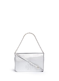 TORY BURCH'Thea' foldover leather clutch