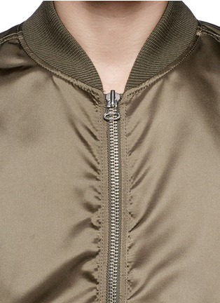 Detail View - Click To Enlarge - Maison Kitsuné - Satin bomber jacket
