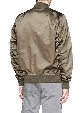 Back View - Click To Enlarge - Maison Kitsuné - Satin bomber jacket