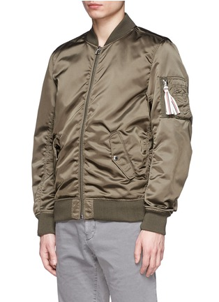 Front View - Click To Enlarge - Maison Kitsuné - Satin bomber jacket