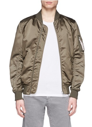 Main View - Click To Enlarge - Maison Kitsuné - Satin bomber jacket